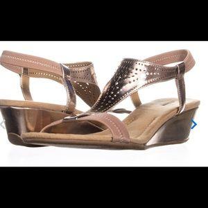 Alfani Rose Gold Wedge Sandals